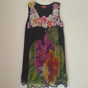 Adoroble Silk dress, size L, S112